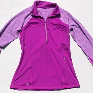 Athleta Raspberry Quarter-zip Performance Jacket